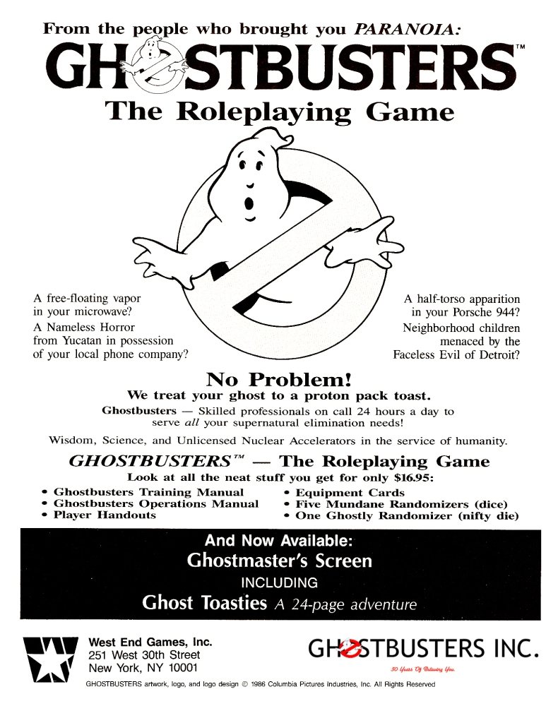 Ghostbusters™ The Roleplaying Game (2/2)