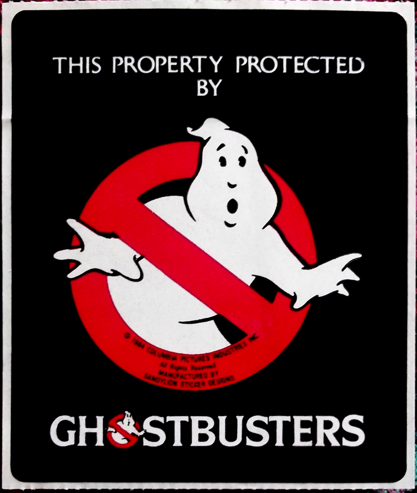 This Property Protected By Ghostbusters Vintage Sticker |